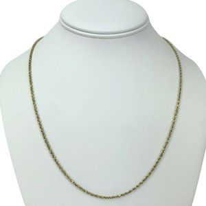 Jewelry - 14k Gold 6g Solid Diamond Cut 1.5mm Necklace 21""